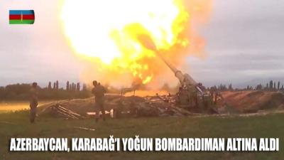 Uluslararası ajanslar duyurdu: Azerbaycan, Karabağ'ı yoğun bombardıman altına aldı