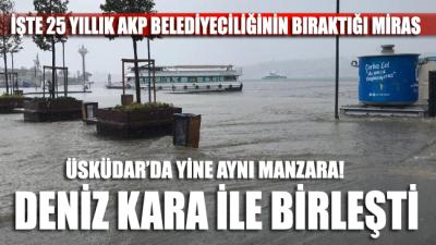 Üsküdar'da kara denizle birleşti
