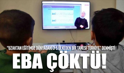"""""""Uzaktan eğitimde dünyadaki 3-5 ülkeden bir tanesi Türkiye"""" denilmişti... EBA çöktü!"""