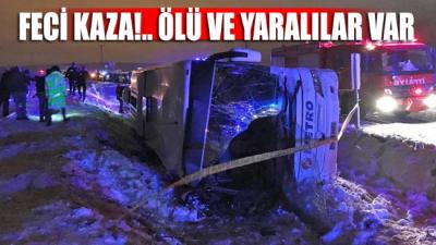 Yolcu otobüsü devrildi! 2 kişi öldü