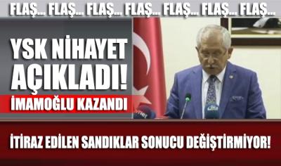 YSK Başkanı Sadi Güven resmi sonuçları açıkladı
