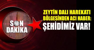 Zeytin Dalı harekât bölgesinde bir şehit